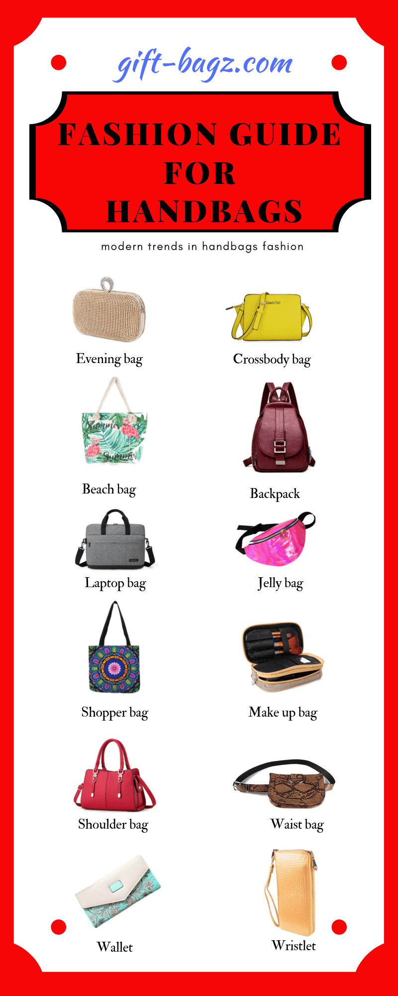 Fashion guide for handbags infographic 1 - Fashion guide for trending handbags