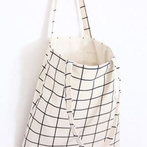 Checkered Canvas Eco Tote Bag