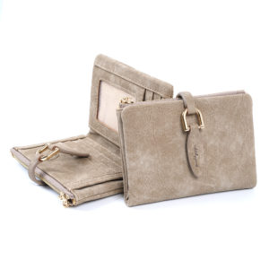 Women's Compact Thin Leather Wallet