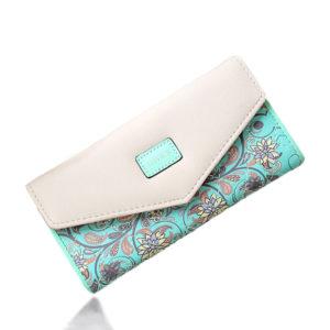 Floral Patterned Long Women's Wallet