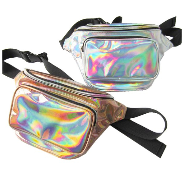 Women'sHolographic Design Waterproof Waist Bag