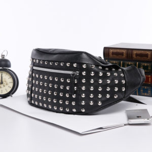 Women's Leather Rivet Waist Bag