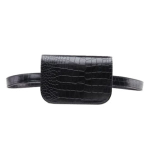 Women's Alligator Leather Style Waist Bag