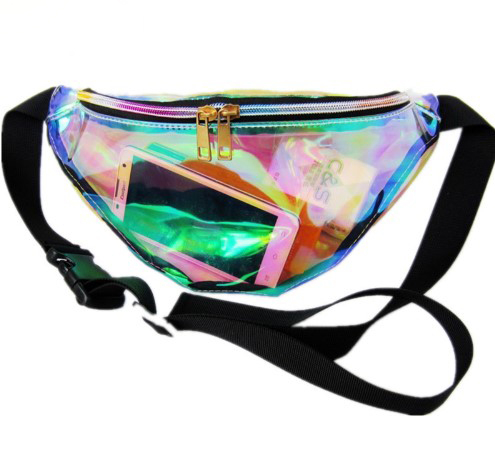 Holographic Pillow Shaped Waist Bag