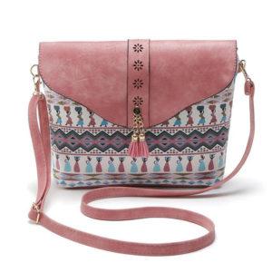 Women's Leather Tassel Shoulder Bag