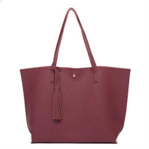 Women's Vintage Leather Tassel Handbag