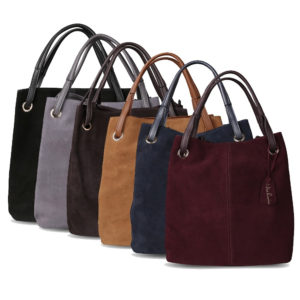 Fashion Solid Suede Women's Handbag