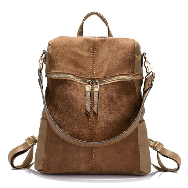Women's Vintage Nubuk Leather Backpack