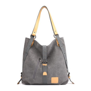 Fashion Solid Women's Canvas Shoulder Bag