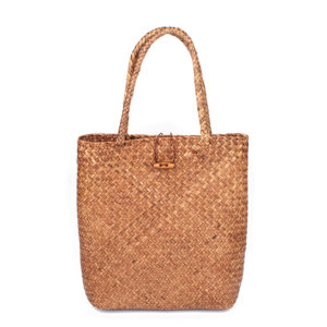 Women's Straw Shopper Beach Bag