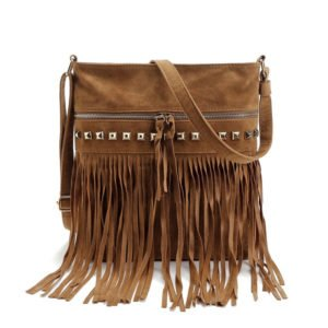 Women's Shoulder Bag with Tassels