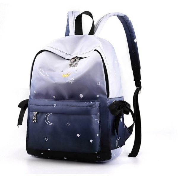 Women's Candy Color Canvas Backpack