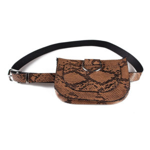 Women's Snake Skin Pattern Waist Pack