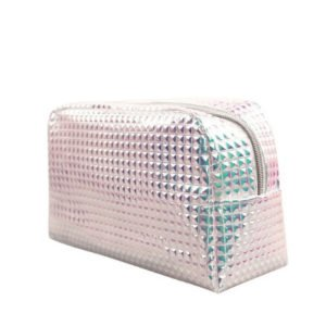 Holographic Textured Cosmetic Bags
