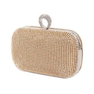 Women's Evening Clutch Bag with Diamonds