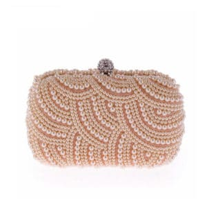Elegant Pearl Chain Evening Clutch