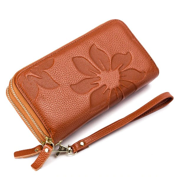 Genuine Leather Floral Women's Purse